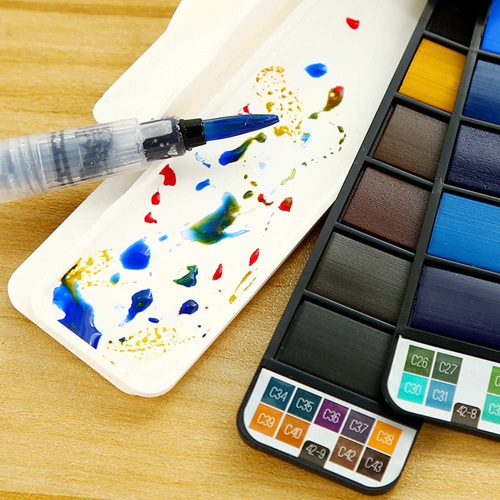 VIVIDCOLOR Pinceau Watercolor Kit