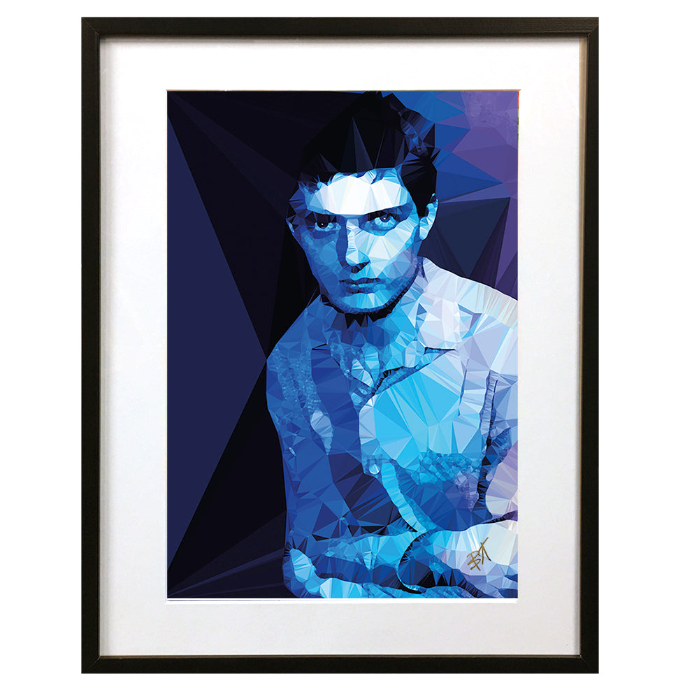 Ian Curtis #2 by Baiba Auria - signed art print - Egoiste Gallery - Art Gallery in Manchester City Centre