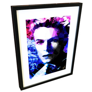 Bowie - Electric Blue by Baiba Auria - signed art print - Egoiste Gallery - Art Gallery in Manchester City Centre