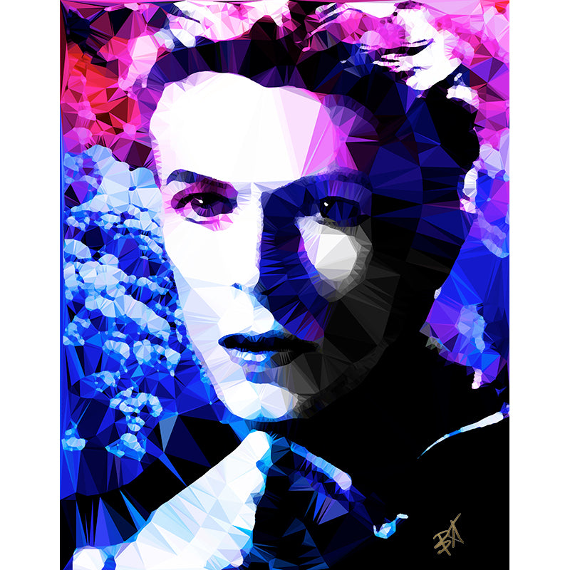 Bowie - Electric Blue by Baiba Auria - signed art print - Egoiste Gallery