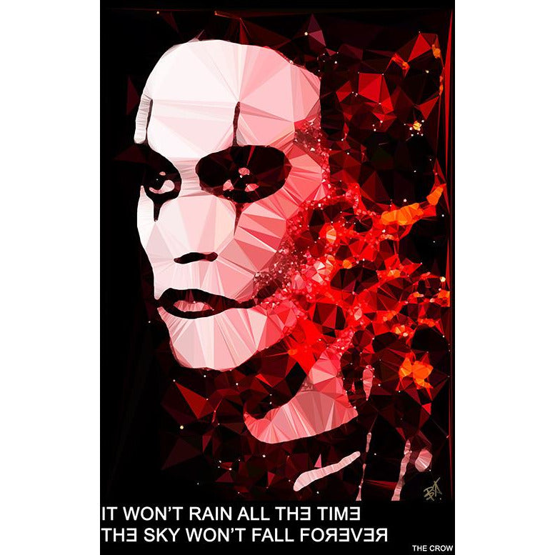 "The Crow - ""IT CAN'T RAIN ALL THE TIME, THE SKY WON'T FALL FOREVER"" art print signed by Baiba Auria - Egoiste Gallery"