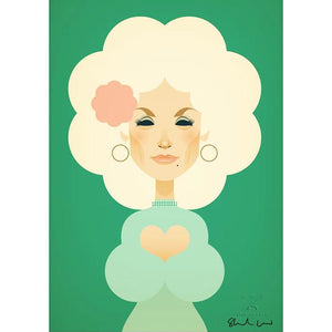 Dolly Parton by Stanley Chow - Signed and stamped fine art print - Egoiste Gallery