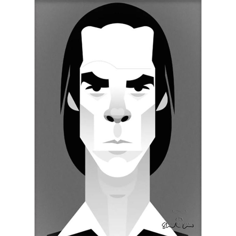 Nick Cave by Stanley Chow - Signed and stamped fine art print - Egoiste Gallery - Art Gallery in Manchester City Centre