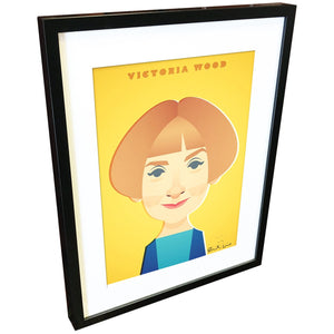 Victoria Wood by Stanley Chow - Signed and stamped fine art print - Egoiste Gallery - Art Gallery in Manchester City Centre