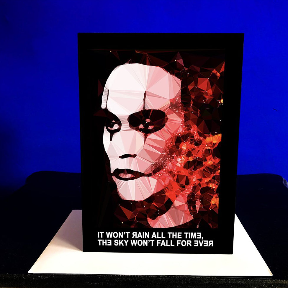 The Crow greeting card by Baiba Auria - Egoiste Gallery - Art Gallery in Manchester City Centre
