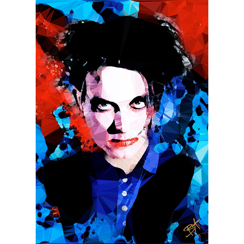Robert Smith (I) by Baiba Auria - signed archival Giclee print - Egoiste Gallery - Art Gallery in Manchester City Centre