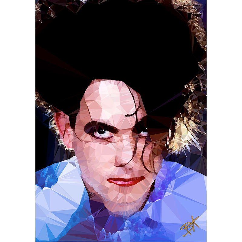 Robert Smith (III) by Baiba Auria - signed archival Giclee print - Egoiste Gallery - Art Gallery in Manchester City Centre