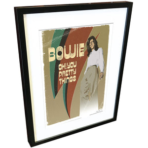 'Oh You Pretty Things' by Richard Miller - Signed Fine Art Print - Official David Bowie Art - Egoiste Gallery
