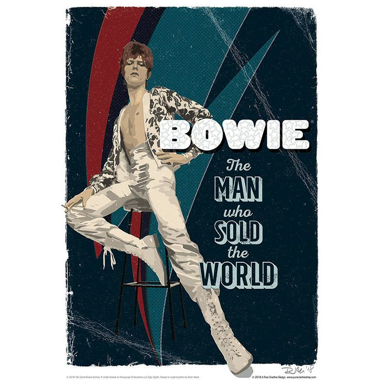 'The Man' by Richard Miller - Signed Fine Art Print - Official David Bowie Art - Egoiste Gallery