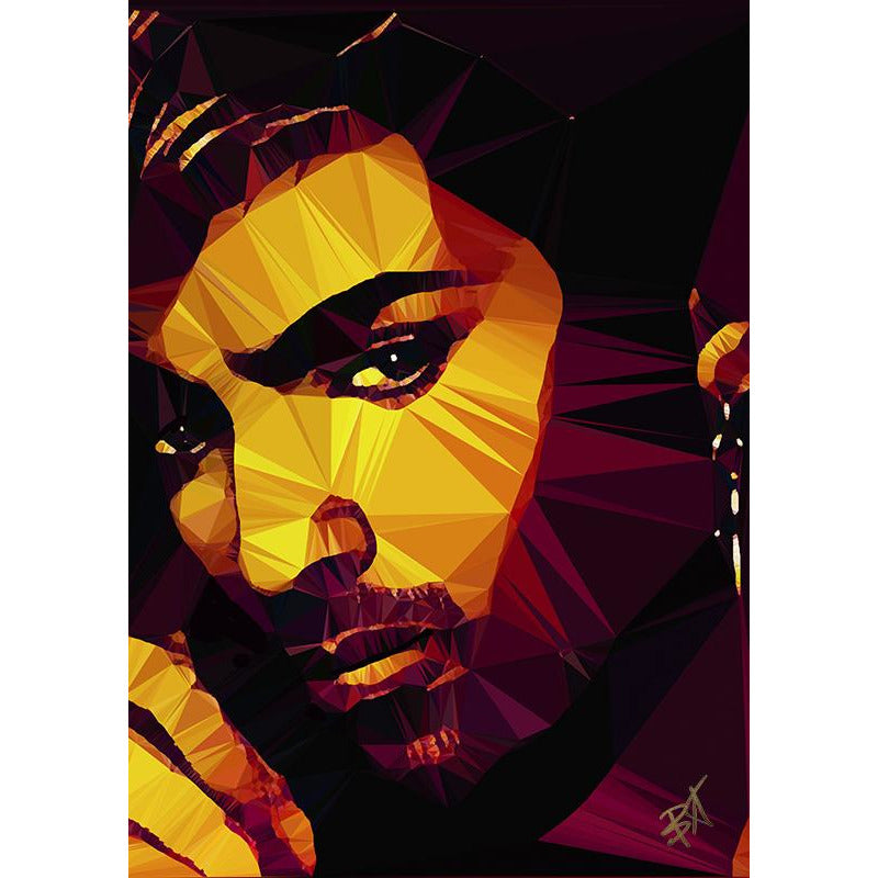 George Michael #1 by Baiba Auria - signed art print - Egoiste Gallery - Art Gallery in Manchester City Centre