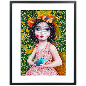 Girl With A Hedgehog by Liva Pakalne Fanelli - fine art print - Egoiste Gallery - Art Gallery in Manchester City Centre