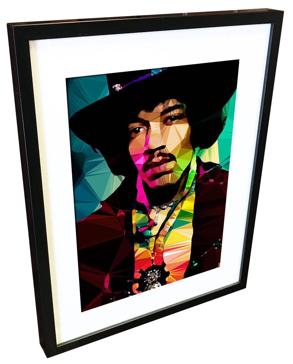 Jimi Hendrix #1 by Baiba Auria - signed art print - Egoiste Gallery - Art Gallery in Manchester City Centre