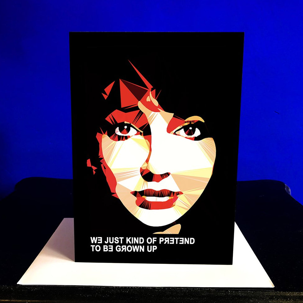 Kate Bush Greeting card by Baiba Auria - Egoiste Gallery