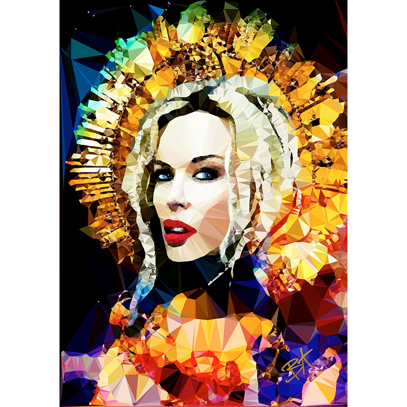 Kylie Minogue #1 by Baiba Auria - signed art print - Egoiste Gallery - Art Gallery in Manchester City Centre