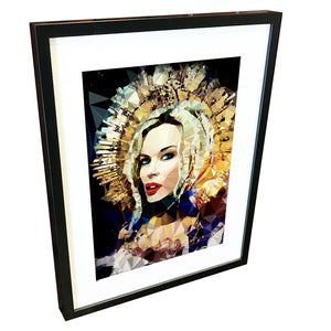 Kylie Minogue #2 by Baiba Auria - signed art print - Egoiste Gallery - Art Gallery in Manchester City Centre