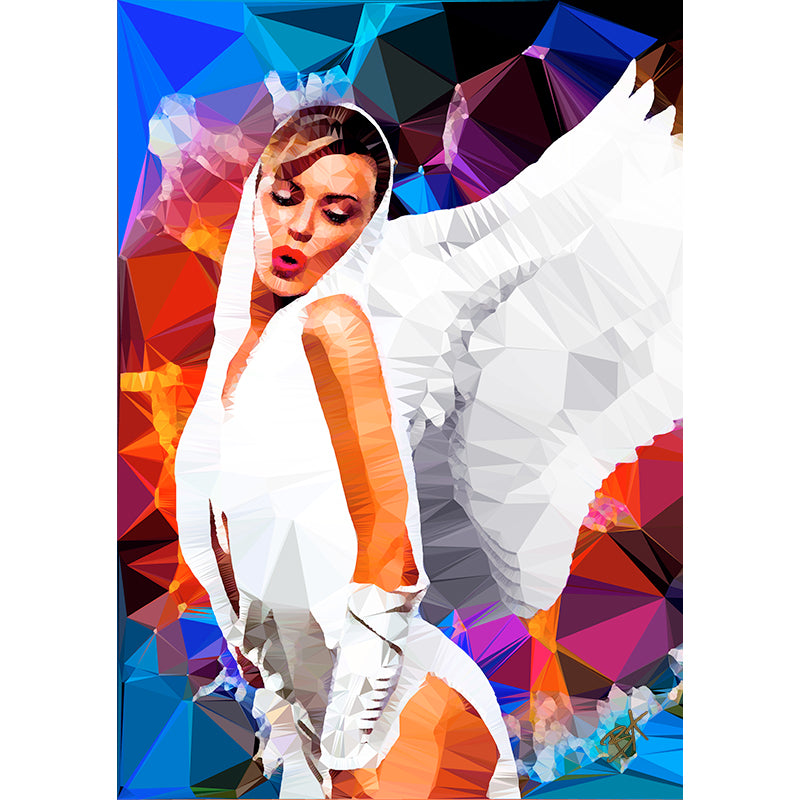Kylie - Angel by Baiba Auria - signed art print - Egoiste Gallery - Art Gallery in Manchester City Centre