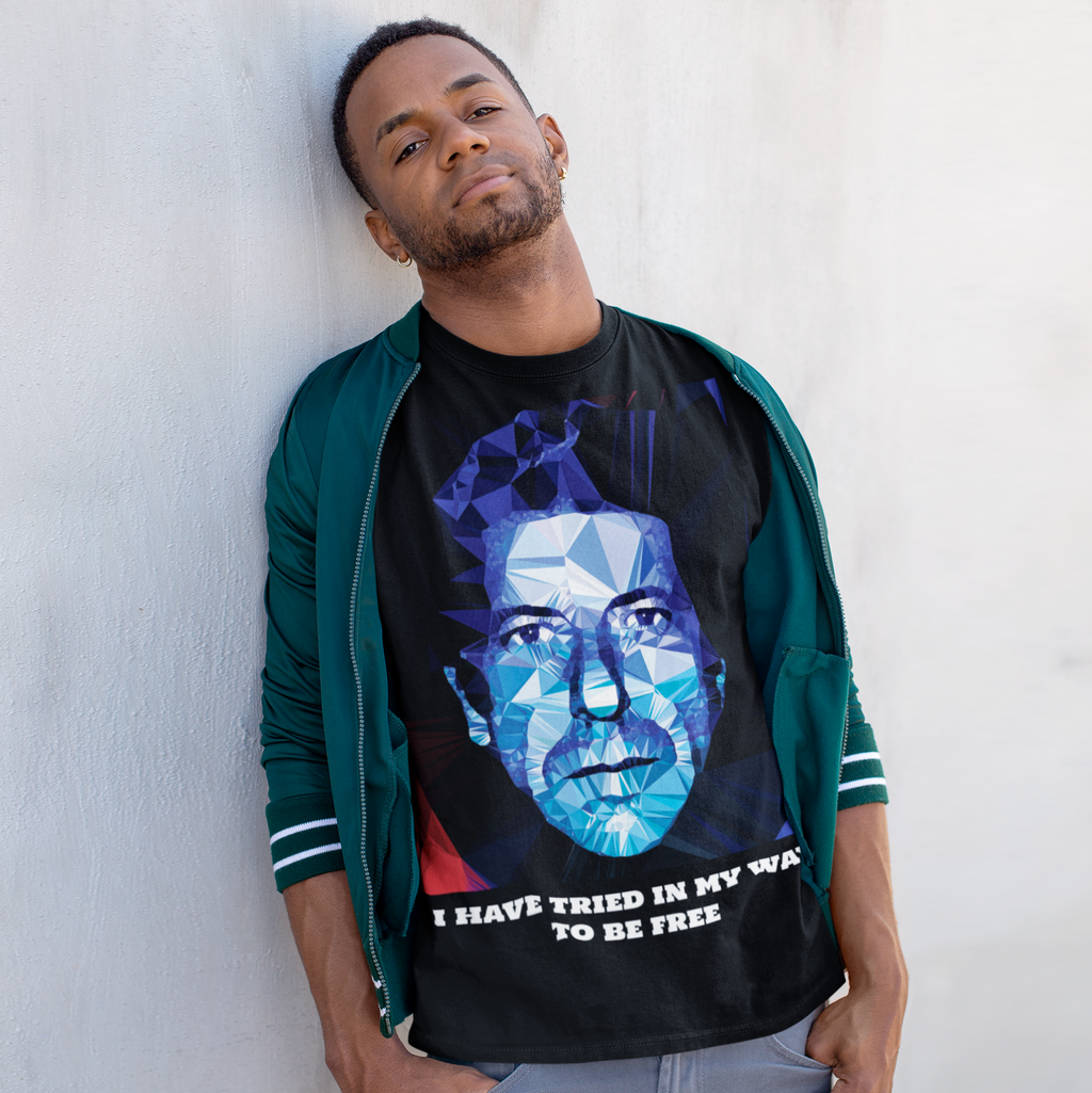 Leonard Cohen by Baiba Auria: Short-Sleeve Unisex T-Shirt - Egoiste Gallery - Art Gallery in Manchester City Centre