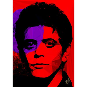 Lou Reed #1 by Baiba Auria - signed art print - Egoiste Gallery - Art Gallery in Manchester City Centre