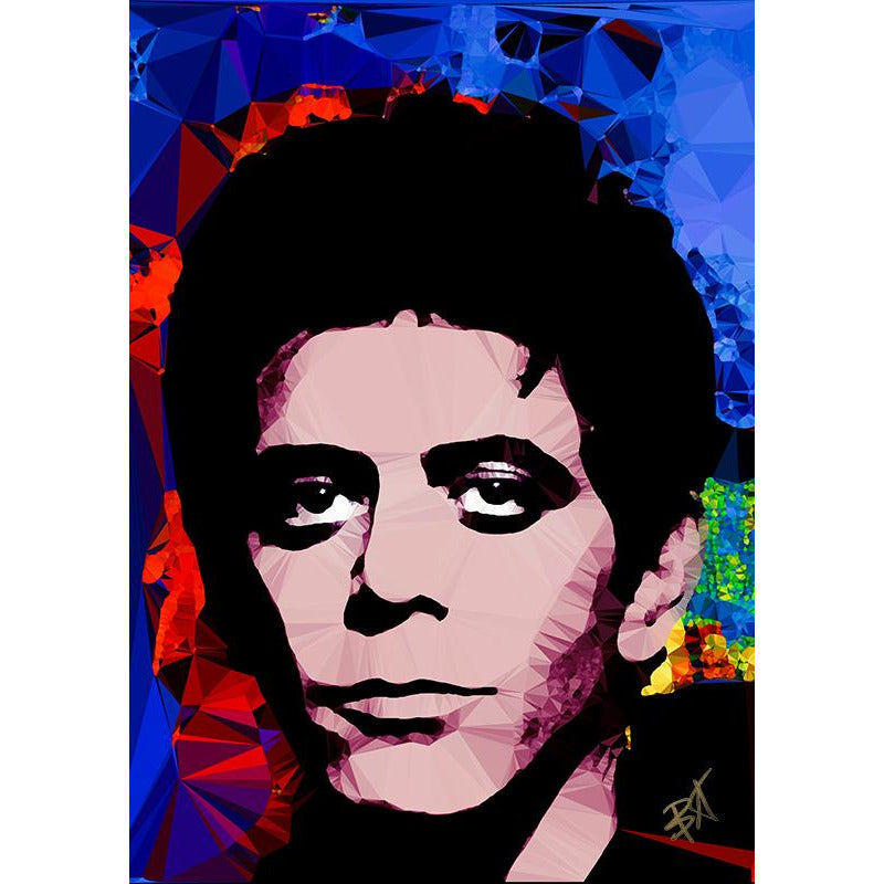 Lou Reed #3 by Baiba Auria - signed art print - Egoiste Gallery