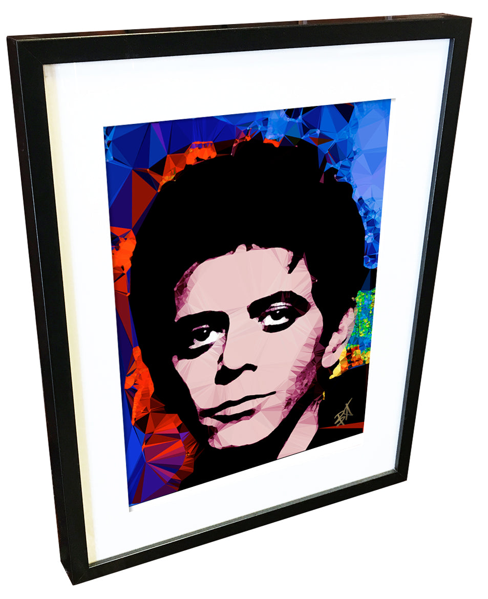 Lou Reed #3 by Baiba Auria - signed art print - Egoiste Gallery - Art Gallery in Manchester City Centre