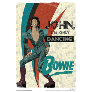 'John I'm Only Dancing' by Richard Miller - Signed Fine Art Print - Official David Bowie Art - Egoiste Gallery