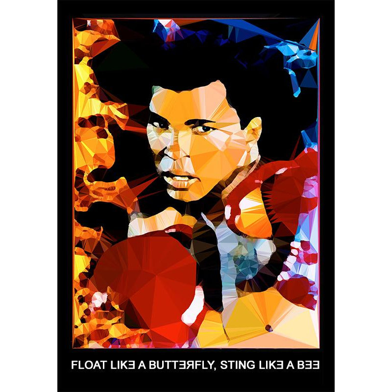 Muhammad Ali by Baiba Auria - signed art print with quote - Egoiste Gallery