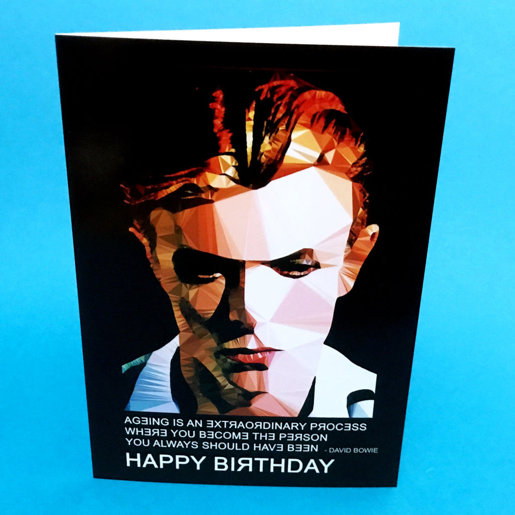 David Bowie birthday card by Baiba Auria