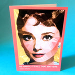 Audrey Hepburn greeting card by Baiba Auria