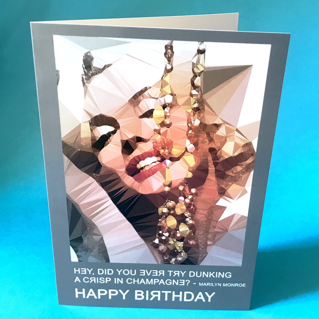 Marilyn Monroe birthday card by Baiba Auria