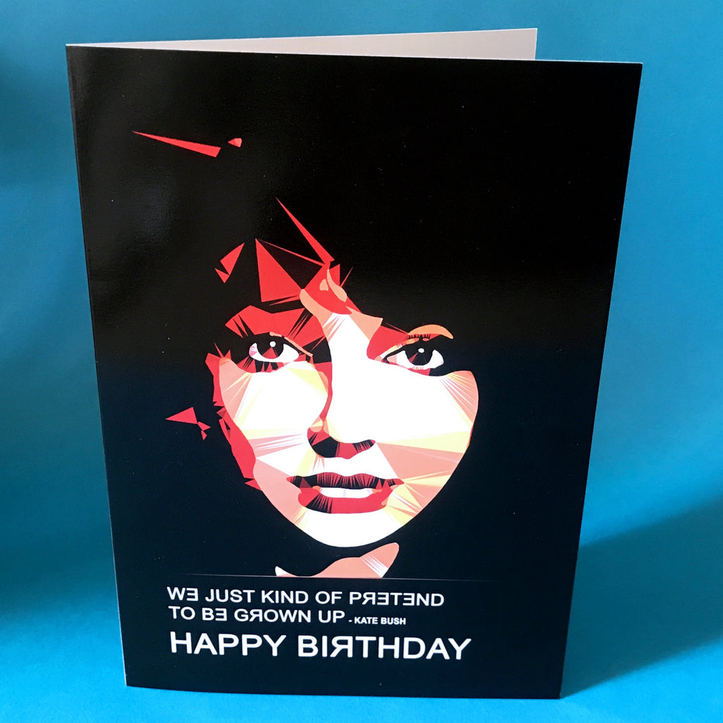 Kate Bush birthday card by Baiba Auria