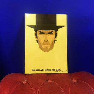 Clint Eastwood by Stanley Chow - Signed and stamped fine art print