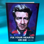 David Lynch greeting card by Baiba Auria