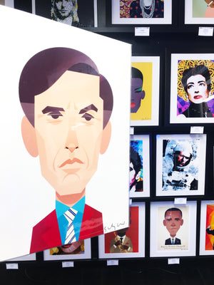 Alan Partridge by Stanley Chow - Signed and stamped fine art print - Egoiste Gallery