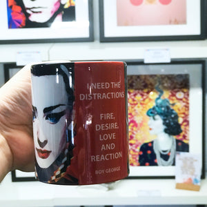 Boy George Mug by Baiba Auria - Egoiste Gallery - Art Gallery in Manchester City Centre