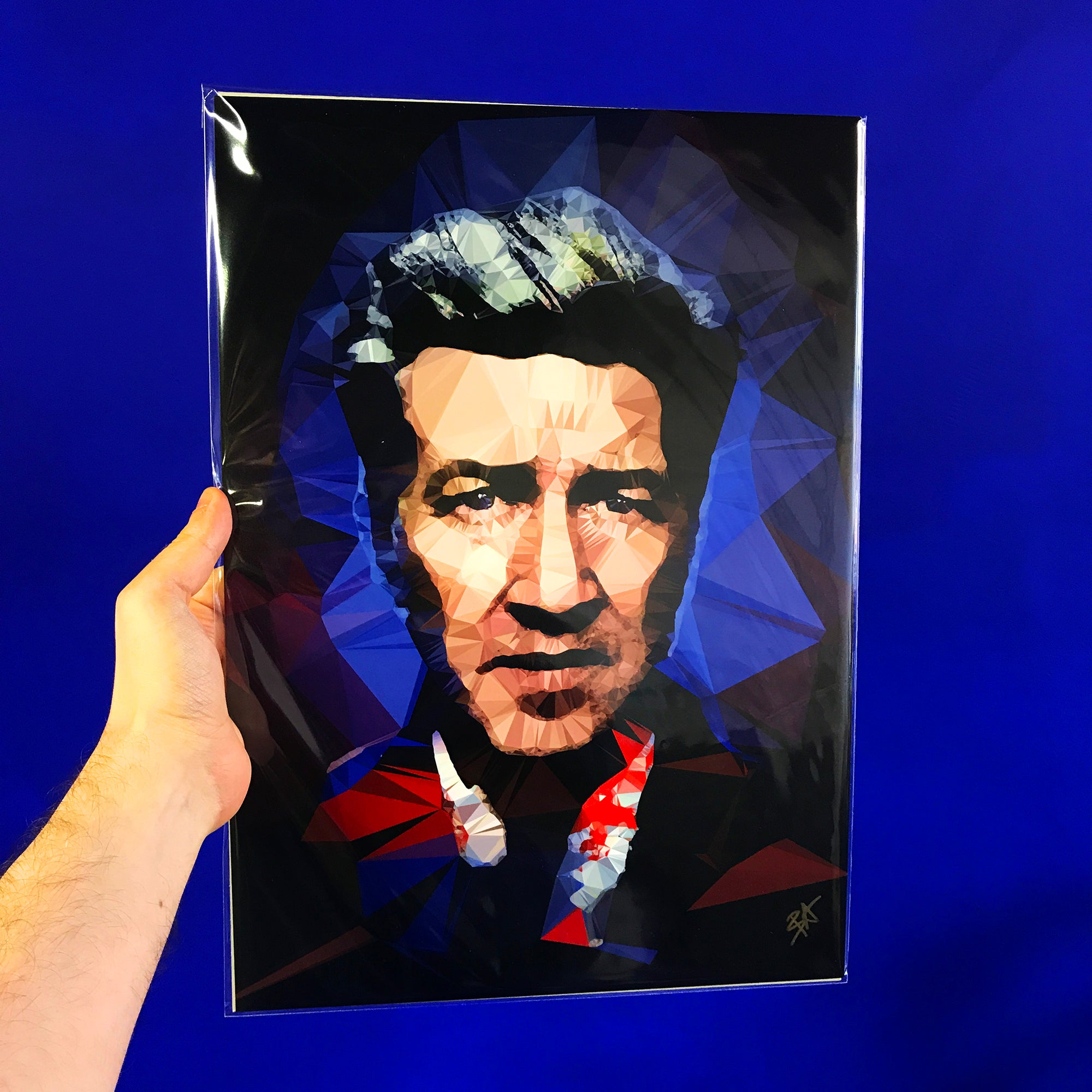 David Lynch #2 by Baiba Auria - signed art print - Egoiste Gallery - Art Gallery in Manchester City Centre