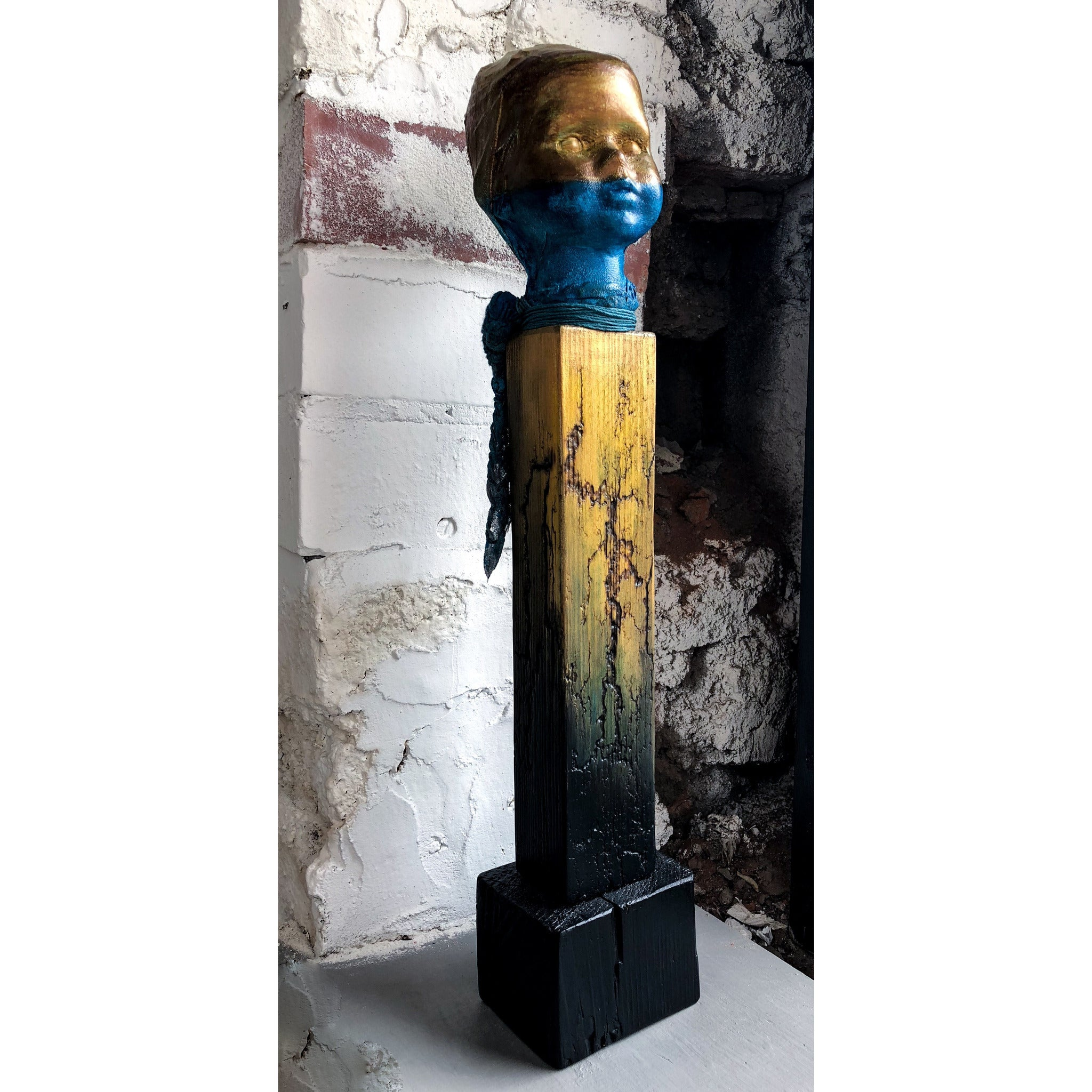 Lost Angel - Gold and Blue by Sonia Dalga - Egoiste Gallery - Art Gallery in Manchester City Centre