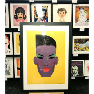 Grace Jones by Stanley Chow - Signed and stamped fine art print - Egoiste Gallery - Art Gallery in Manchester City Centre