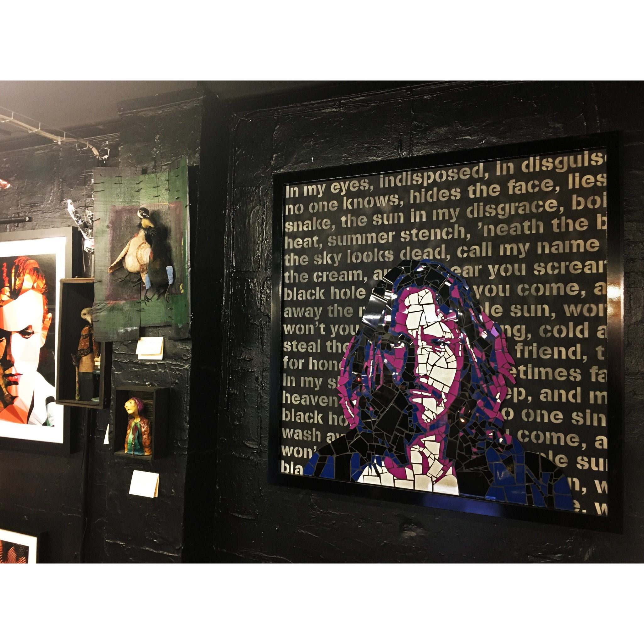 Chris Cornell - original mixed media ceramic mosaic by Leaky - Egoiste Gallery - Art Gallery in Manchester City Centre