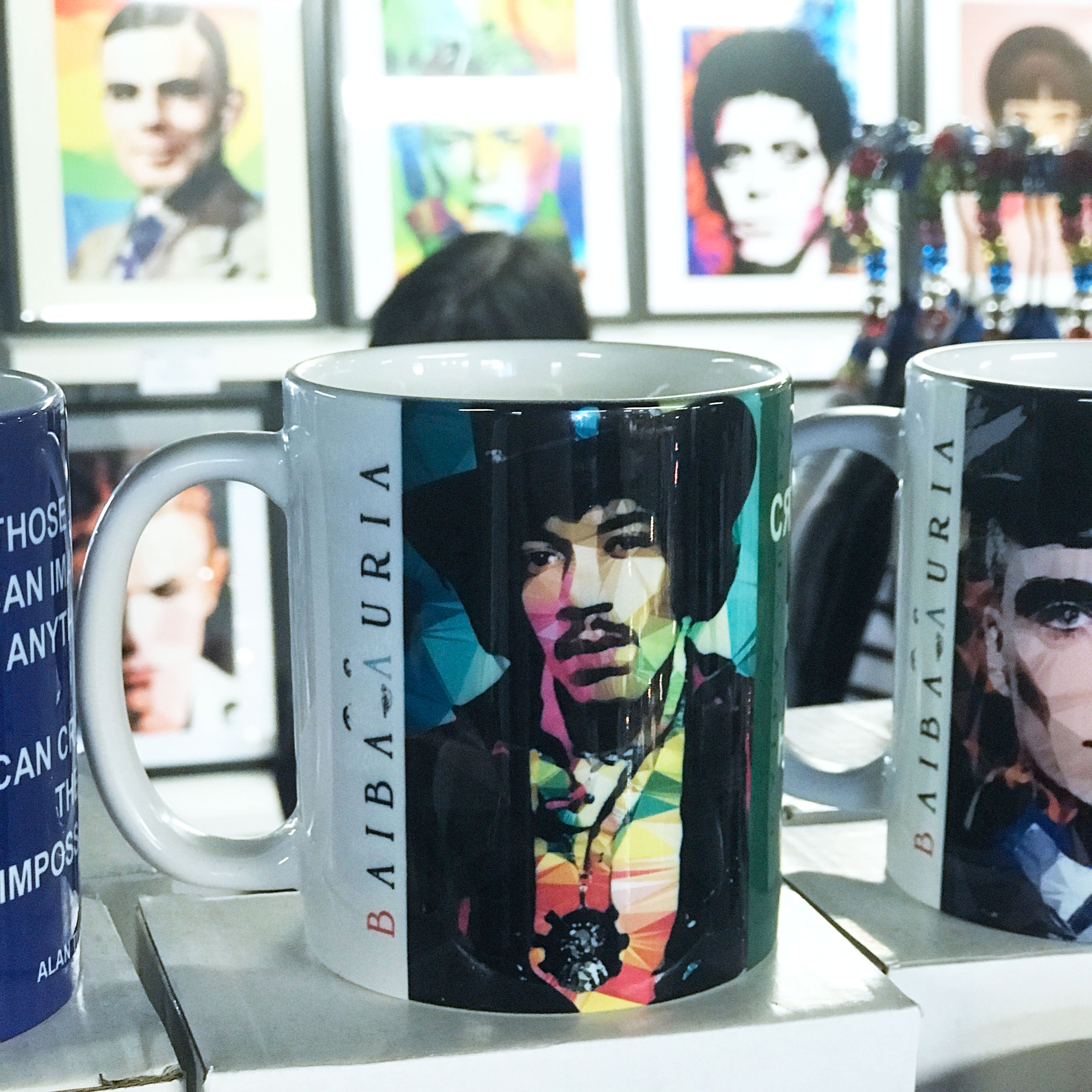 Jimi Hendrix #1 Mug by Baiba Auria - Egoiste Gallery - Art Gallery in Manchester City Centre