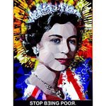 Stop Being Poor #3 by Baiba Auria - signed art print with quote - Egoiste Gallery