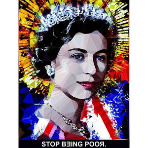 Stop Being Poor #3 by Baiba Auria - signed art print with quote - Egoiste Gallery - Art Gallery in Manchester City Centre