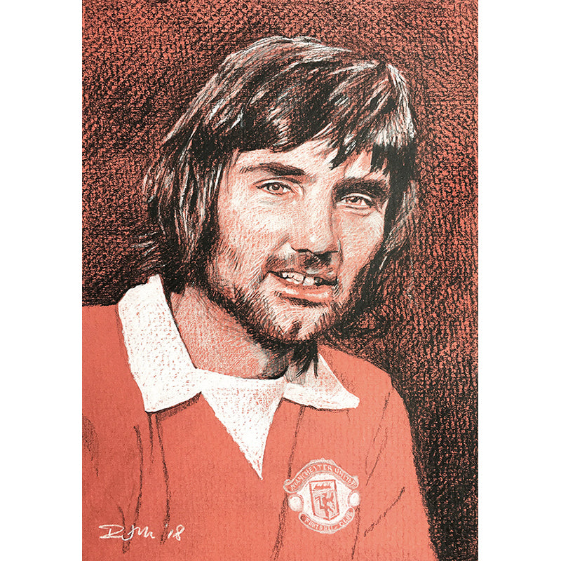 George Best by Richard Miller - Signed Fine Art Print - Egoiste Gallery