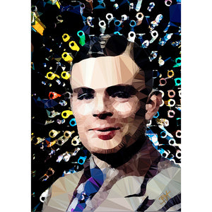 Alan Turing (I) by Baiba Auria - signed archival Giclee print - Egoiste Gallery - Art Gallery in Manchester City Centre
