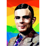 Alan Turing (II) by Baiba Auria - signed archival Giclee print - Egoiste Gallery - Art Gallery in Manchester City Centre