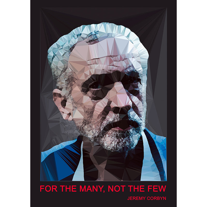 Jeremy Corbyn by Baiba Auria - signed art print with quote - Egoiste Gallery - Art Gallery in Manchester City Centre