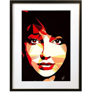 Kate Bush by Baiba Auria - signed art print - Egoiste Gallery - Art Gallery in Manchester City Centre