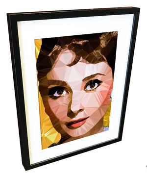 Audrey Hepburn by Baiba Auria - signed art print - Egoiste Gallery - Art Gallery in Manchester City Centre