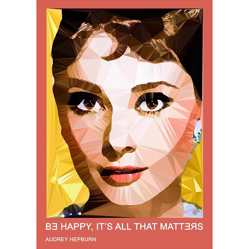 Audrey Hepburn #1 by Baiba Auria - signed art print with quote - Egoiste Gallery