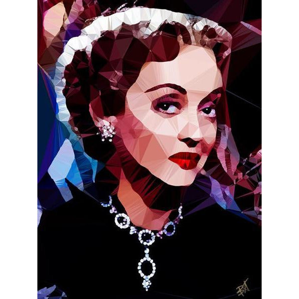 Bette Davis #2 by Baiba Auria - signed art print - Egoiste Gallery