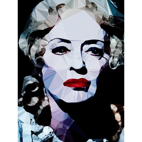 Bette Davis #3 by Baiba Auria - signed art print - Egoiste Gallery - Art Gallery in Manchester City Centre